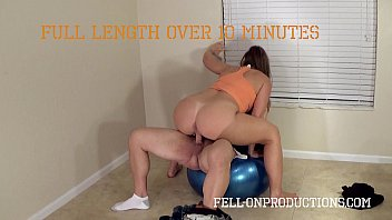 Madisin lee milf in mommy teaches son to exercise