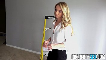 Propertysex house painter smooth talks his hot blonde boss lady into sex